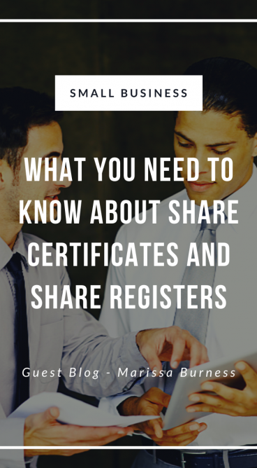 Share Certificates and Share Register